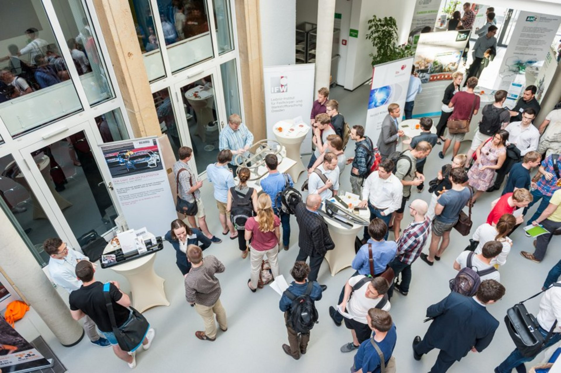 many people in the IFW atrium during an event