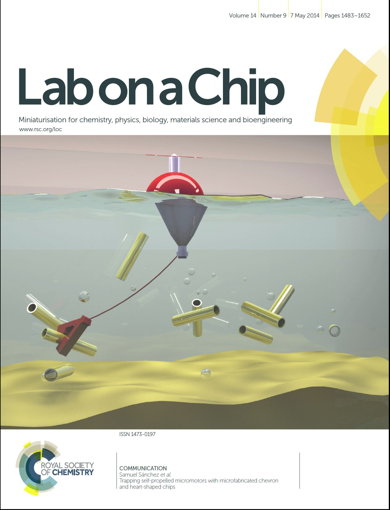 Trapping self-propelled micromotors with microfabricated chevron and heart-shaped chips