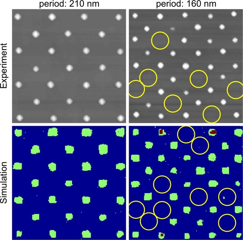 Quantum dot crystal defects